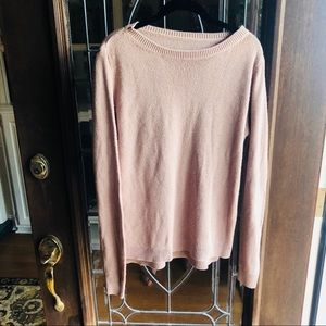 Brandy Melville blush pink light pullover sweater